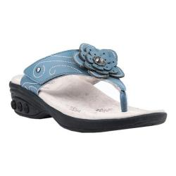 Women's Therafit Julia Thong Sandal Blue Leather