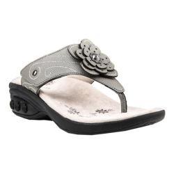 Women's Therafit Julia Thong Sandal Pewter Leather