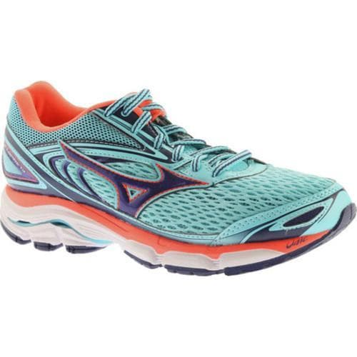 Shop Women s Mizuno Wave Inspire 13 Blue Radiance Blueprint Fiery Coral -  Free Shipping Today - Overstock - 16052566 2ec8542420