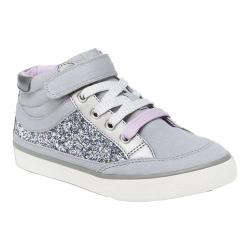 Girls' Hanna Andersson Teo High Top Sneaker Silver Chambray Textile/Chunky Glitter/PU (2 options available)