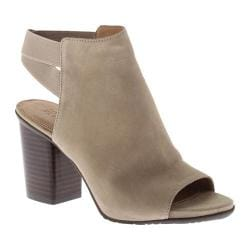 Women's Kenneth Cole Reaction Fridah Fly Open Toe Bootie Taupe Suede