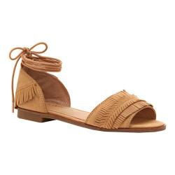 Women's Lucky Brand Gelso Ankle Tie Sandal Sandbox Nubuck