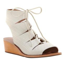 Women's Lucky Brand Gizi Ghillie Wedge Sandshell Leather