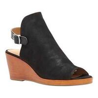 Women's Lucky Brand Keralin Wedge Black Leather