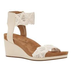 Women's Lucky Brand Kierlo Wedge Sandal Linen Macrame Fabric