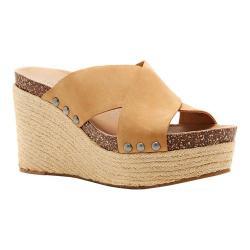 Women's Lucky Brand Neeka Slide Wedge Sandal Sandbox Leather