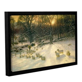 Joseph Farquharson's 'The Shortening Winter's 'Day Is Near A Close' Gallery Wrapped Floater-framed Canvas