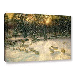 Joseph Farquharson's 'The Shortening Winter's 'Day Is Near A Close' Gallery Wrapped Canvas
