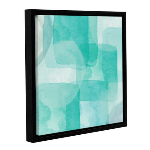 Linda Woods's 'Beach Glass 1' Gallery Wrapped Floater-framed Canvas