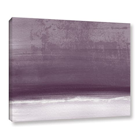 Linda Woods's 'Amethyst Shoreline' Gallery Wrapped Canvas