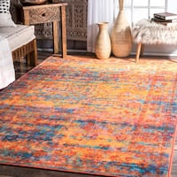 nuLoom Vintage Inspired Fading Morning Haze Floral Yellow Rug - 8' x 10'