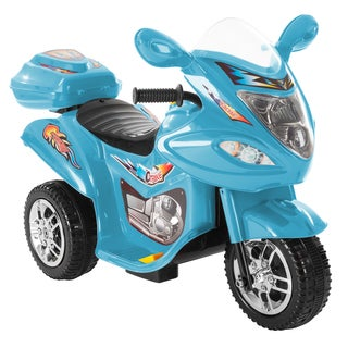 Ride on Car, 3 Wheel Trike Motorcycle for Kids, Battery Poweredby Lil' Rider (Option: Ride on Car 3 Wheel Motorcycle by Lil' Rider- Blue)