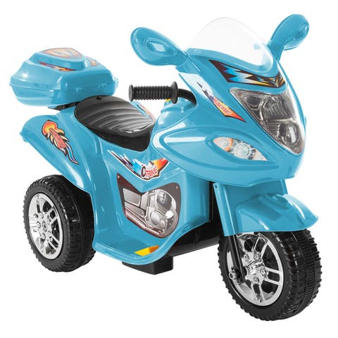 Ride-On Toy Trike Motorcycle- Electric Tricycle for Toddlers with Built-in Sound and Working Headlights by Lil Rider