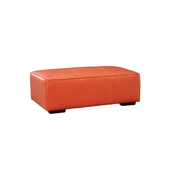 Shop Lazzaro Leather Hayden Bench Ottoman Free Shipping