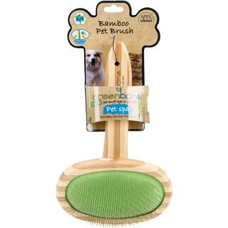 DogSpa Natural Bamboo Slicker Grooming Brush