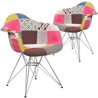 2 Pk. Alonza Series Fabric Chair with Chrome Base