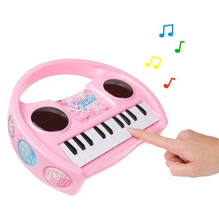 Kids Karaoke Machine with Microphone, Includes Musical Keyboard & Lights - Battery Operated Portable Singing Machine Hey! Play!