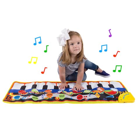 Step Piano Mat for Kids, Keyboard Mat with Musical Keys Hey! Play!