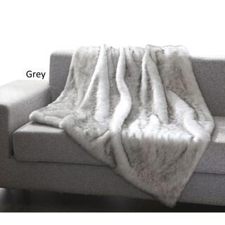 De Moocci Luxury Tip Dye Reversible Faux Fur Throw - 50 in x 60 in