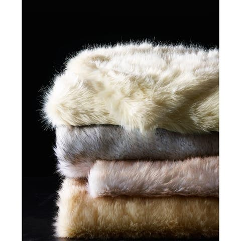 De Moocci Luxury Tip Dye Reversible Fauxfur Throw