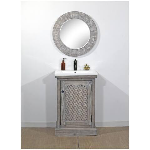 Rustic Style 24-inch Bathroom Vanity