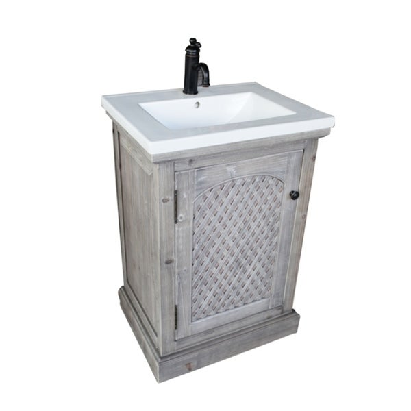 Shop Rustic Style Inch Bathroom Vanity Free Shipping Today - 24 inch bathroom vanity gray