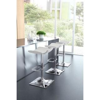 Magi White/Chrome Leatherette/Steel Bar Stool