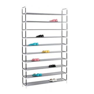 10 Tier Shoe Rack 50 Pairs WallShelf Closet Organizer Storage Stand|https://ak1.ostkcdn.com/images/products/18505136/P24617984.jpg?impolicy=medium