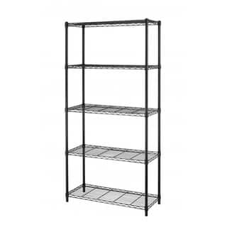 "Black Steel Wire 5 Tier Layer Shelving 72""x36""x14"" Storage Rack