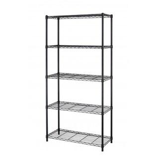 "Black Steel Wire 5 Tier Layer Shelving 72""x36""x14"" Storage Rack"