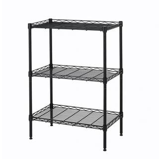 Wire Shelving Cart Unit 3 Shelves Shelf Rack Black Layer Tier|https://ak1.ostkcdn.com/images/products/18505167/P24617991.jpg?impolicy=medium