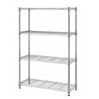 Chrome 4 Layer Shelf Adjustable Steel Wire Metal Shelving Rack