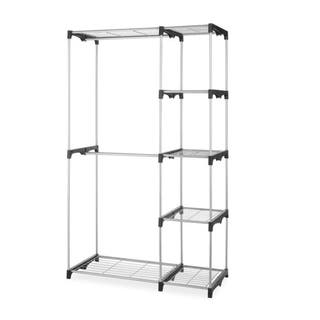 Closet Organizer Storage Rack Portable Clothes Hanger Garment Shelf|https://ak1.ostkcdn.com/images/products/18505170/P24617993.jpg?impolicy=medium
