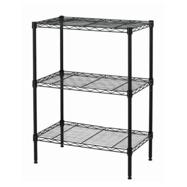 Black Wire Shelving Cart Unit 3 Shelves Shelf Rack Layer Tier - Free ...