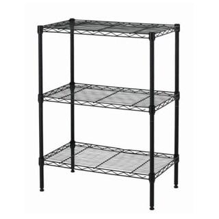 Black Wire Shelving Cart Unit 3 Shelves Shelf Rack Layer Tier