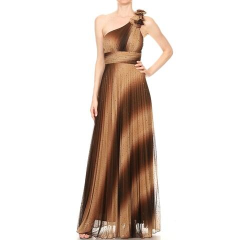 DFI One shoulder ombre dress