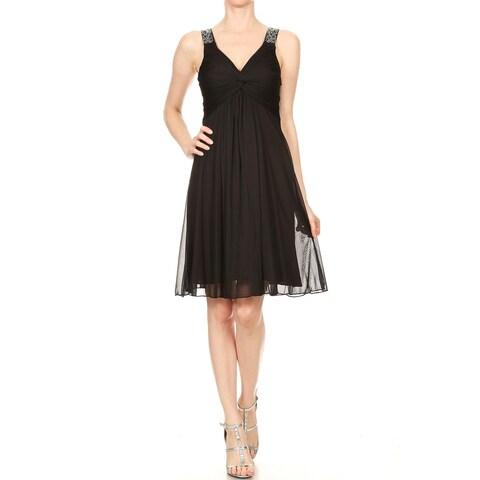 DFI Womens short V-neck dress gown