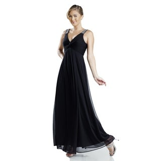 DFI Womens long V-neck dress gown
