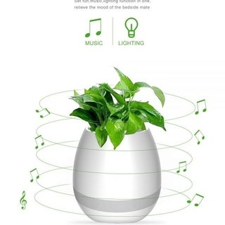 Music Flower Pot,B4M Smart Touch Plant Piano Music Playing Flowerpot USB Rechargeable Wireless Bluetooth Speaker