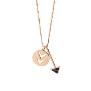 "Mint Jules Arrow and Chevron Pendant Necklace 28"" - 30"" Adjustable"