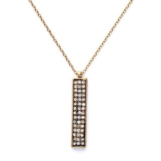 "Mint Jules Cut Crystal Rhinestone Vertical Bar Pendant Layering Necklace 30"" - 33"" Adjustable"