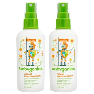 Babyganics Natural Insect Repellent, 2 oz, Pack of 2