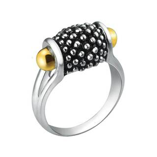 Silver & Gold ring with Sleek Band and Smooth Curves