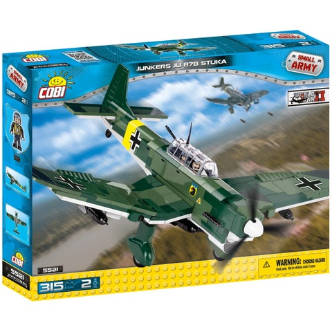 COBI Small Army World War II Junkers JU 87B Plane 315 Piece Construction Blocks Building Kit