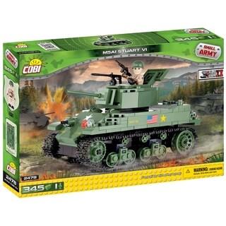 COBI Small Army World War II  M5A1 Stuart VI American Tank 345 Piece Construction Blocks Building Kit