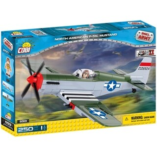 COBI Small Army World War II North American P51 Mustang Plane 250 Piece Construction Blocks Building Kit