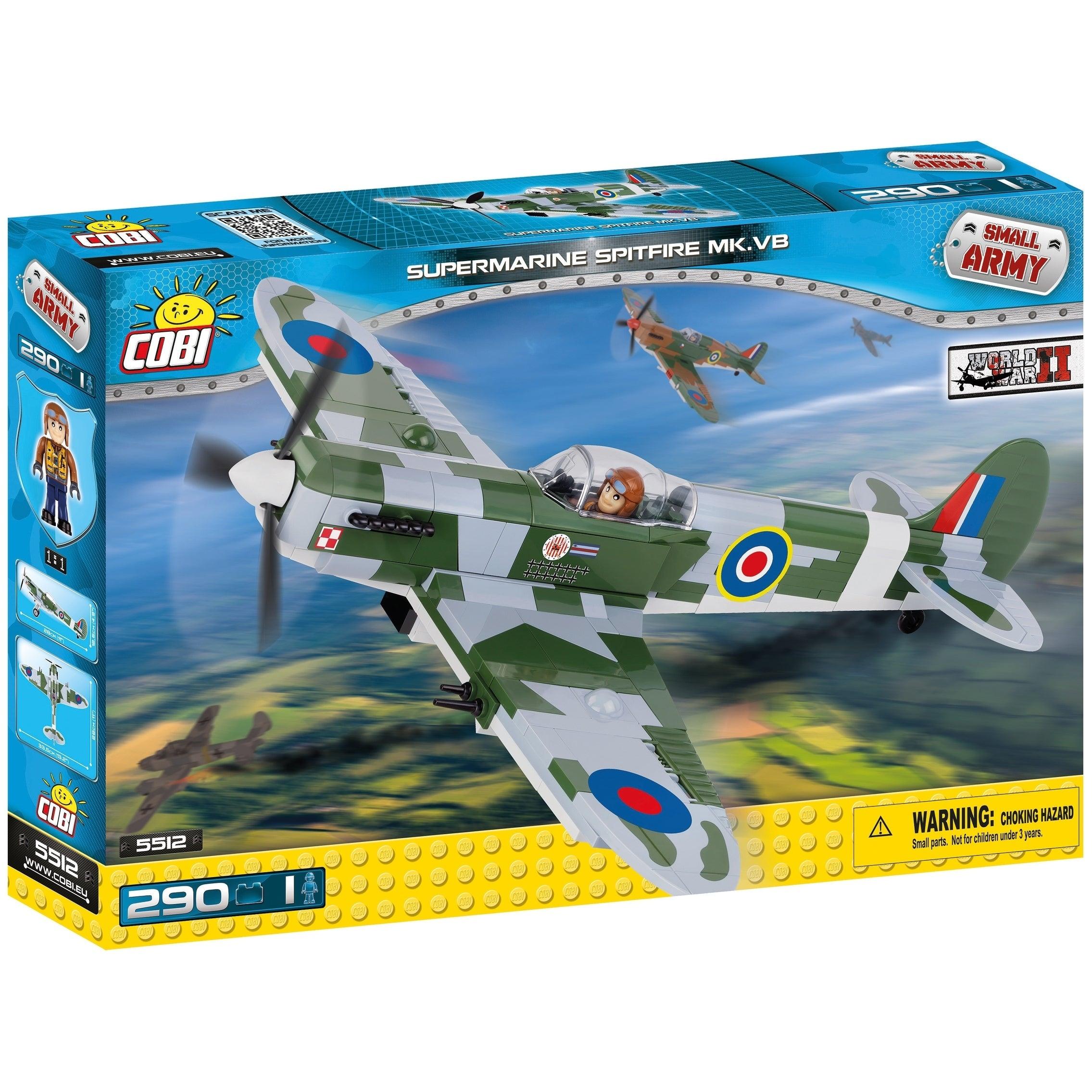 Cobi Toys Small Army World War II Supermarine Spitfire MK...