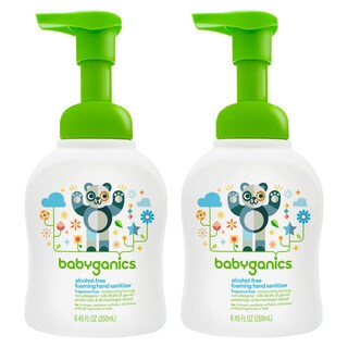Babyganics Alcohol-free Foaming Hand Sanitizer Bundle - 2 Items: Fragrance Free 8.45 Oz Bottles