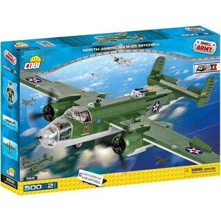 COBI Small Army World War II B-25 Mitchell Bomber Plane 500 Piece Construction Blocks Building Kit