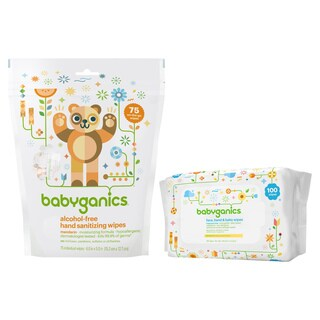 Babyganics Hand Sanitizer Wipes with Hand & Baby Wipes